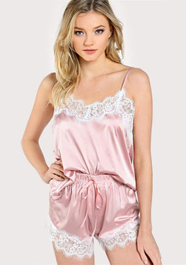 Lace Trim Satin Cami