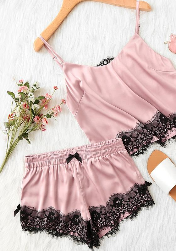 Pappi Satin Cami Pajamas Set