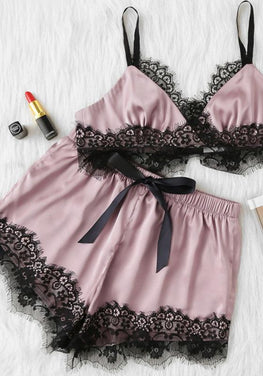Scalloped Eyelash Pajamas Set