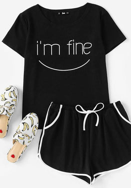 Smilie Emoji Pajamas Set