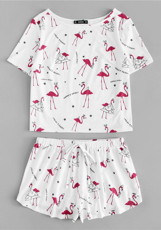 Flamingo Print Pajamas