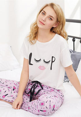 Graphics Pajamas Set