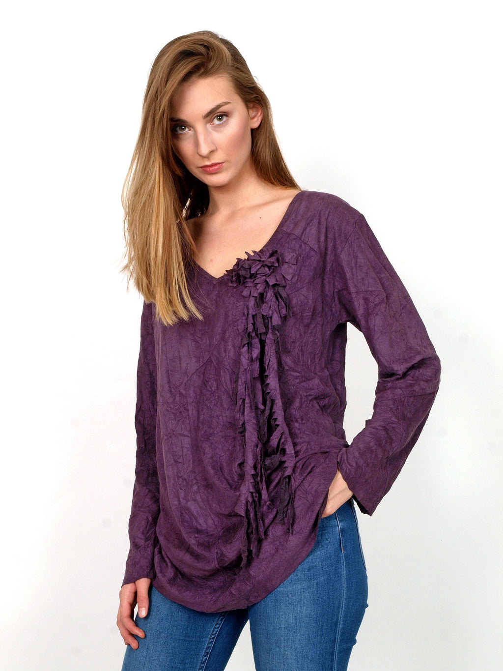 Purple  long  sleeve  tunic