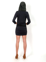 Little  black  hooded  dress.