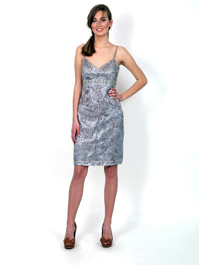 Formal dress above knee length.