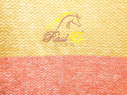 Zen Throw - Yellow & Red detail