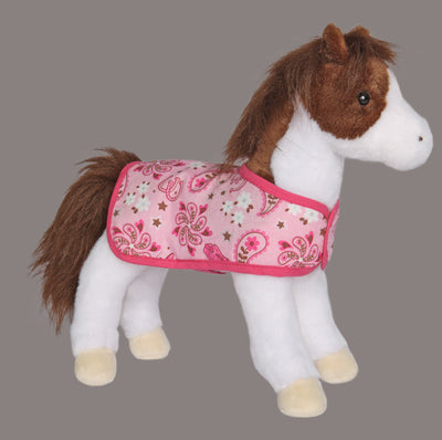 Daphne Pinto Horse with Pink Blanket