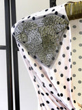 Polka Dot Top - detail white