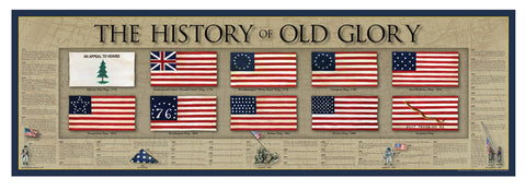 History America Poster - US Flag.