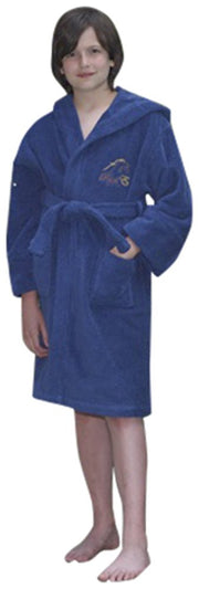 Raul E New York Boys' Hooded Terry Robe Navy Blue.