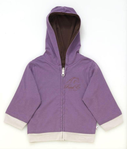 Raul E New York Baby-Girls' Year Round Reversible Hoodie 6-12 M Eggplant