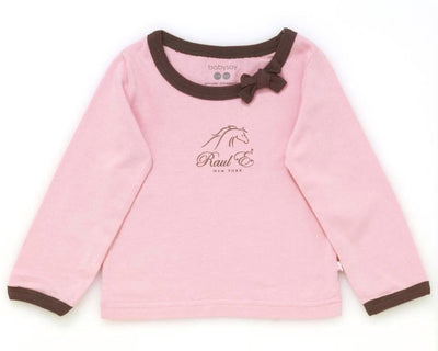 Raul E New York Baby-Girls' Soy Modern Tee With Bow 12-18 M Petal.