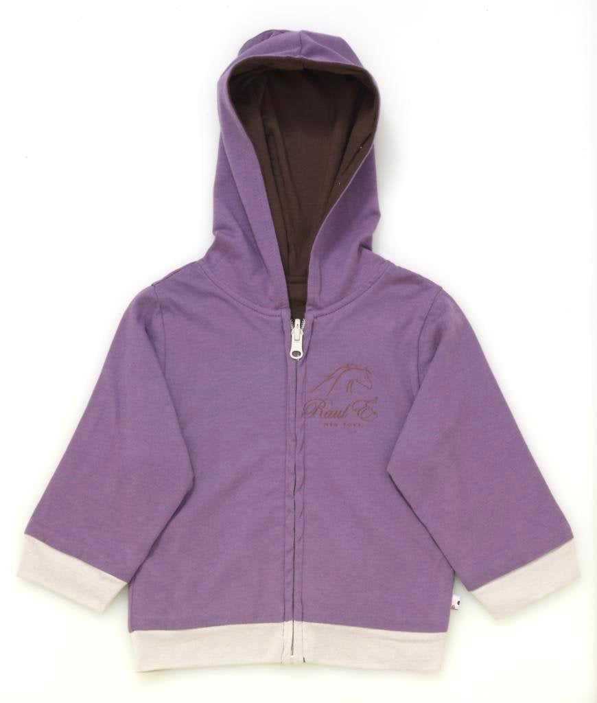 Raul E New York Baby-Girls' Year Round Reversible Hoodie 0-6 M Eggplant