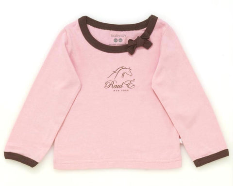 Raul E New York Baby-Girls' Soy Modern Tee With Bow 18-24 M Petal.