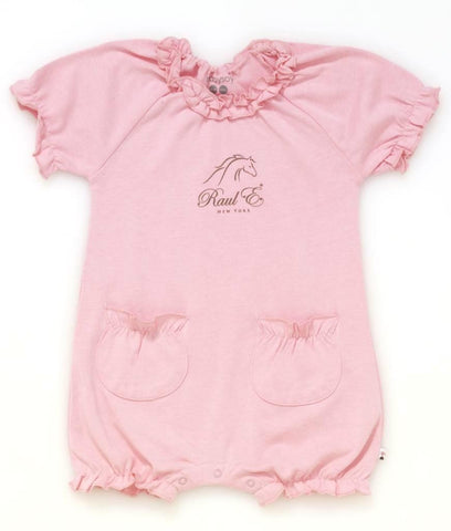 Raul E New York Baby-Girls' Soy Bubble Romper 12-18 M Petal.