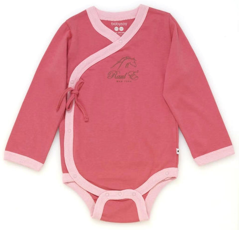 Raul E New York Baby-Girls' Long Sleeve Kimono Body Suit 18-24 M Blossom