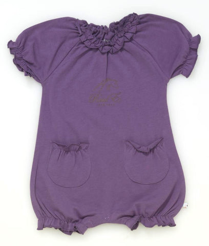 Raul E New York Baby-Girls' Soy Bubble Romper 18-24 M Eggplant