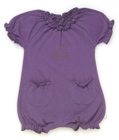Raul E New York Baby-Girls' Soy Bubble Romper 12-18 M Eggplant.