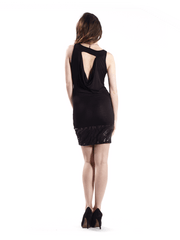 Black Dress with Detachable Necklace 3