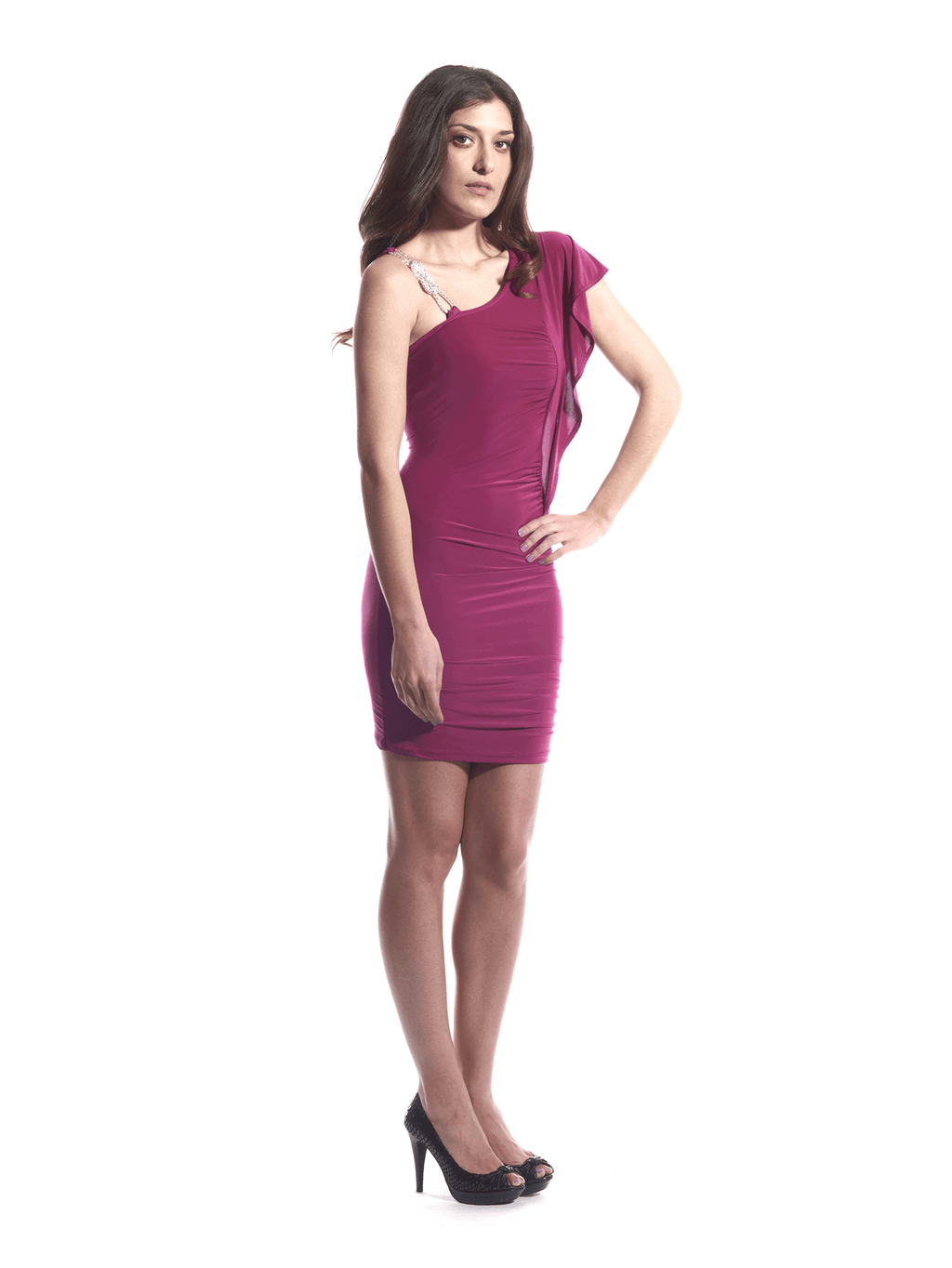 Dress Fuschia Silver Rope 2
