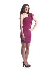 Dress Fuchsia Silver Rope.