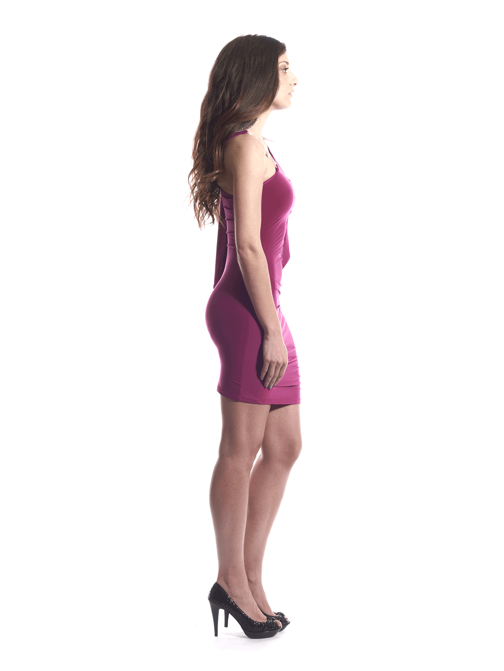 Dress Fuschia Silver Rope 3