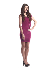 Dress Fuschia Silver Rope