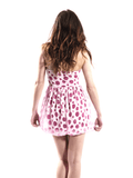 Pink polka dot dress 3