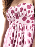 Pink polka dot dress 4