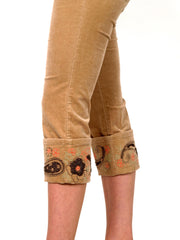 Brown - beige capri pants.