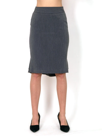 Narrow skirt gray.