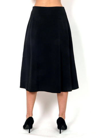 Black wider skirt bellow knees vintage style.