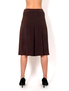 Brown skirt on folds A cut.