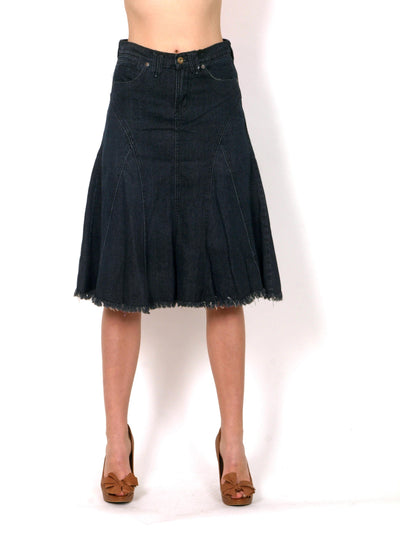 Denim skirt A cut.