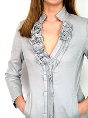 Ice gray longer jacket.