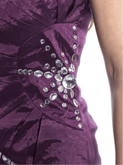 Strapless Dress with Crystals.