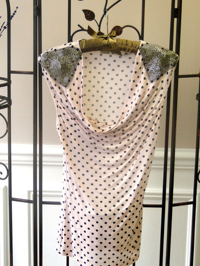 Polka Dot Top - front white