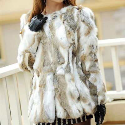 Real  Fur  Short Coat  Luxury.
