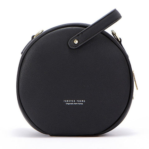HOT Circular Design Fashion Women Shoulder Bag Leather  Crossbody.