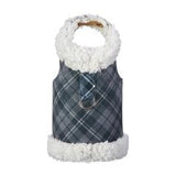 Susan Lanci Scotty Bowzer Charcoal Plaid Coat Harness