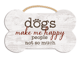 Bone Shaped Rope Sign - Dogs Make Me Happy
