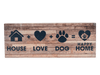 Large Pallet Box Sign - House+Dog+Love=HOME