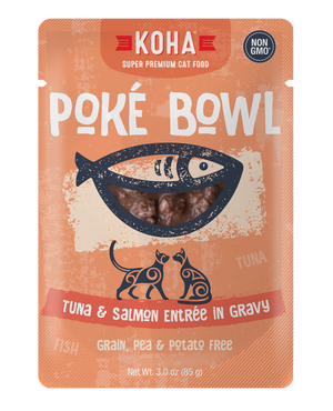 KOHA Poké Bowl Tuna & Salmon Entrée in Gravy 3oz