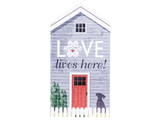 Extra Large Rustic House Sign - Love Lives Here