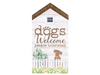 Extra Large Rustic House Sign - Dogs Welcome People Tolerated