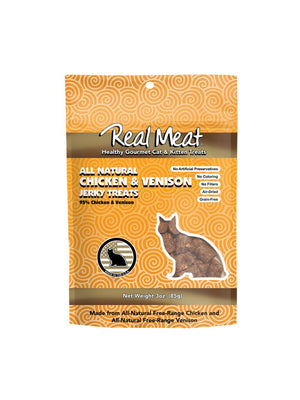 The Real Meat Company Chicken & Venison Jerky Cat Treats