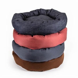 Mutts & Mittens Denim Fabric Round Bed 36'' Indigo