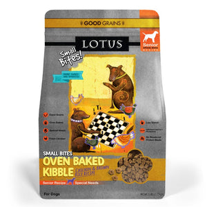 Lotus Senior Small Bites Chicken Oven Baked Dog Food
