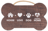 Bone Shaped Rope Sign - House + Love + DogBone Shaped Rope Sign -