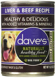 Dave's Naturally Healthy Liver & Beef Dog Food 22oz